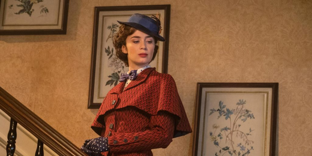 Nanny, State!: Emily Blunt plays the proper and prim magical au pair in the sequel <em>Mary Poppins Returns.</em>