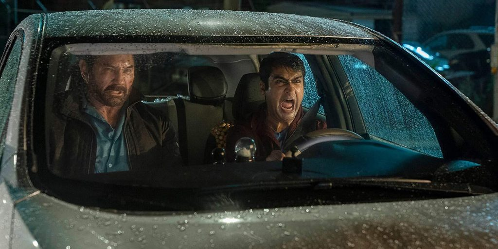 "Dave Bautista and Kumail Nanjiani in ""Stuber."" (Twentieth Century Fox/TNS)"