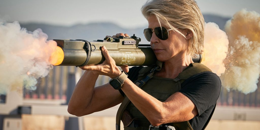"Linda Hamilton stars in Skydance Productions and Paramount Pictures' ""TERMINATOR: DARK FATE."""