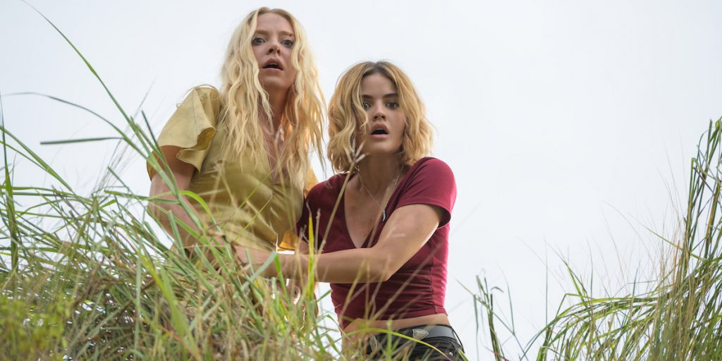 Portia Doubleday  and Lucy Hale star in Columbia Pictures' BLUMHOUSE'S FANTASY ISLAND.