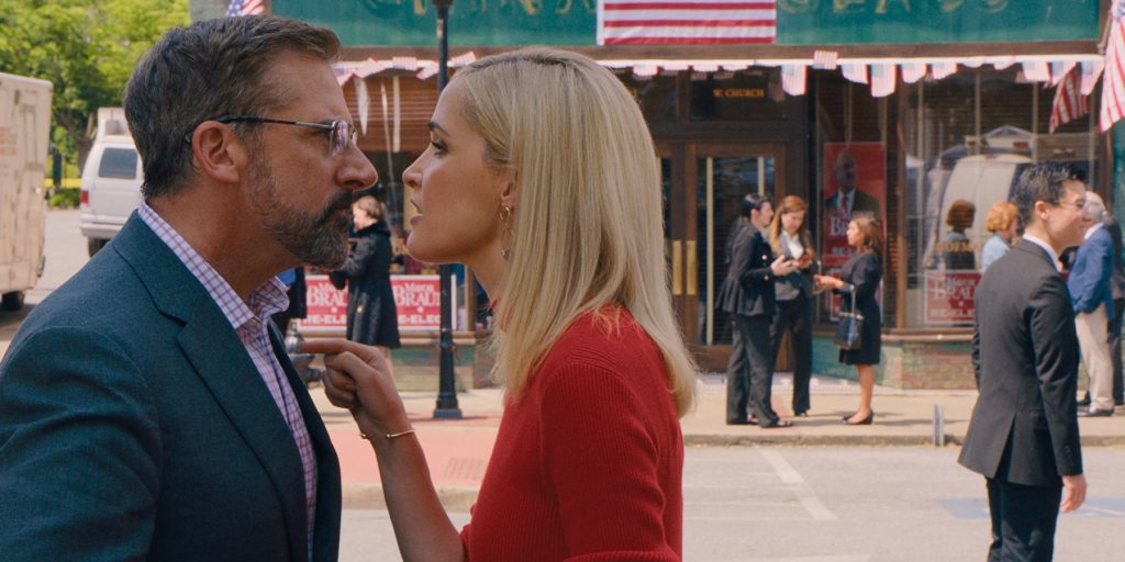 Steve Carell stars as Gary Zimmer and Rose Byrne as Faith Brewster in Jon Stewart's IRRESISTIBLE, a Focus Features release. Cr. Courtesy of Focus Features