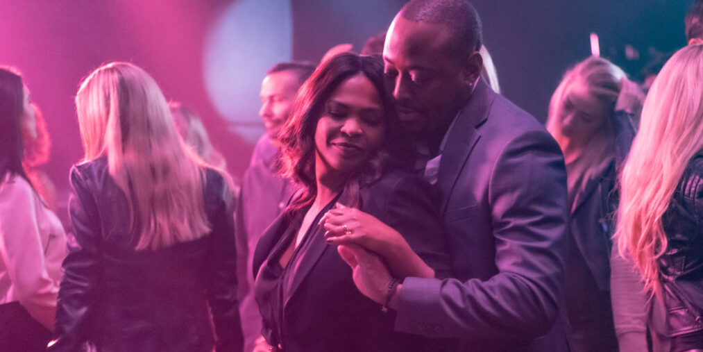 "Nia Long and Omar Epps in ""Fatal Affair."""