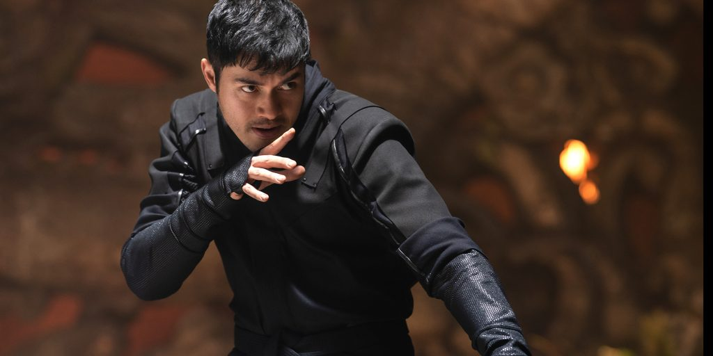 Henry Golding plays Snake Eyes in Snake Eyes: G.I. Joe Origins from Paramount Pictures, Metro-Goldwyn-Mayer Pictures and Skydance.
